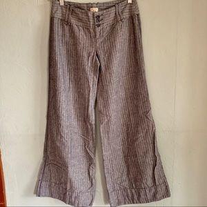 Free People wide leg linen trousers